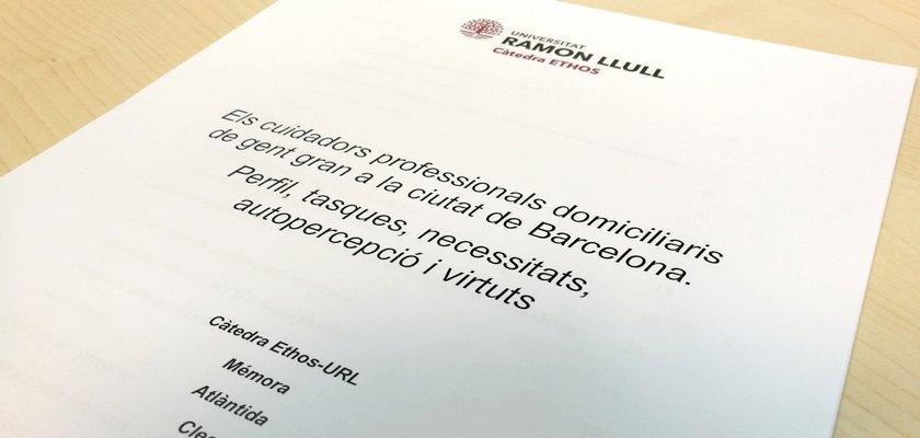 Els cuidadors professionals domiciliaris de gent gran - Càtedra Ethos Ramon Llull
