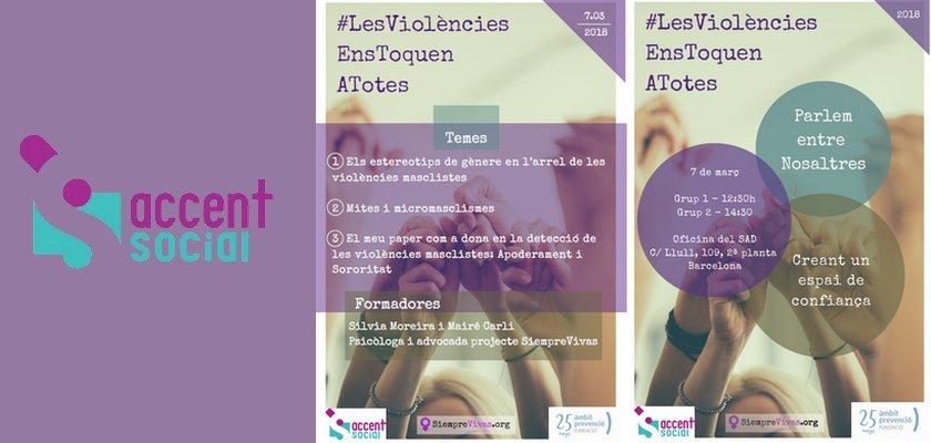 Les violències ens toquen a totes - Dia de la Dona