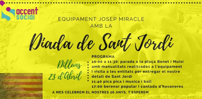 Sant Jordi a equipament Josep Miracle Barcelona