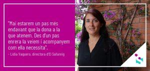Violència de Gènere, Lídia Vaquero d'El Safareig