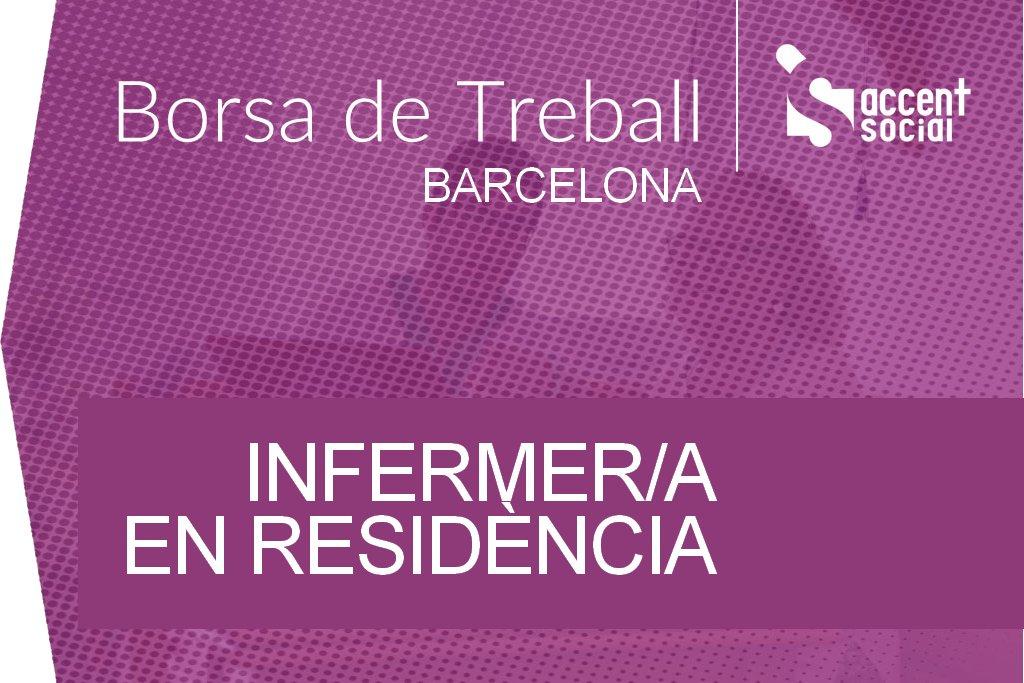 Oferta Borsa Treball Infermer Barcelona Residència