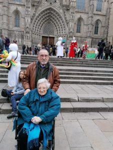 Visita a la Fira de Santa Llúcia amb gent gran Accent Social