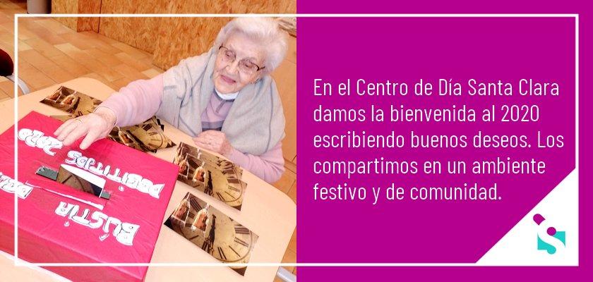 Deseos para el año 2020 en el Centro de Día Santa Clara de Lleida