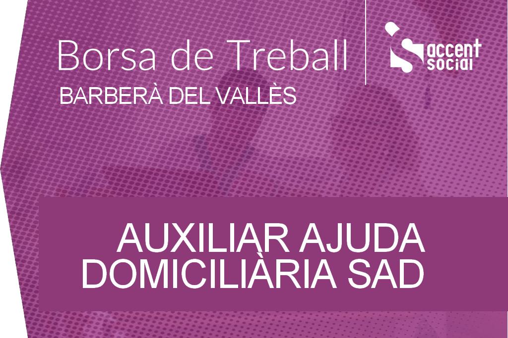 Oferta Borsa Treball Auxiliar SAD Barberà del Vallès