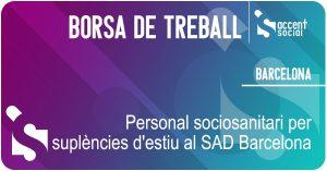 Oferta laboral Servei Atenció Domiciliària SAD Barcelona