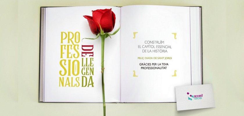 1000 roses solidàries per Sant Jordi