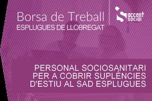 Oferta laboral sociosanitaris SAD Esplugues 600x400