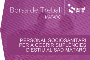 Oferta laboral sociosanitaris SAD Mataró 600x400