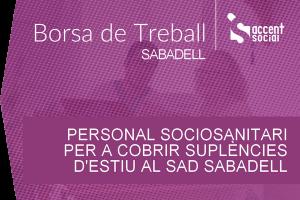 Oferta laboral sociosanitaris SAD Sabadell 600x400