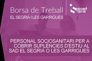 Oferta laboral sociosanitaris SAD Segrià 600x400