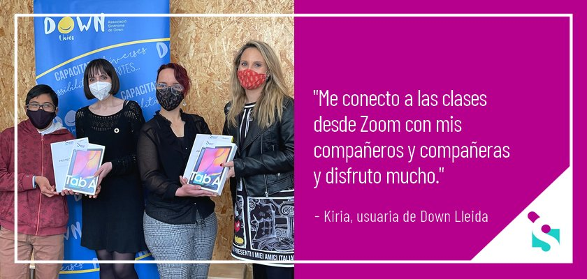 Conectar con la tecnología para desconectar de la pandemia - Associació Síndrome Down Lleida