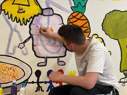 Pintura social amb causa - Prou estigmatitzar el sensellarisme